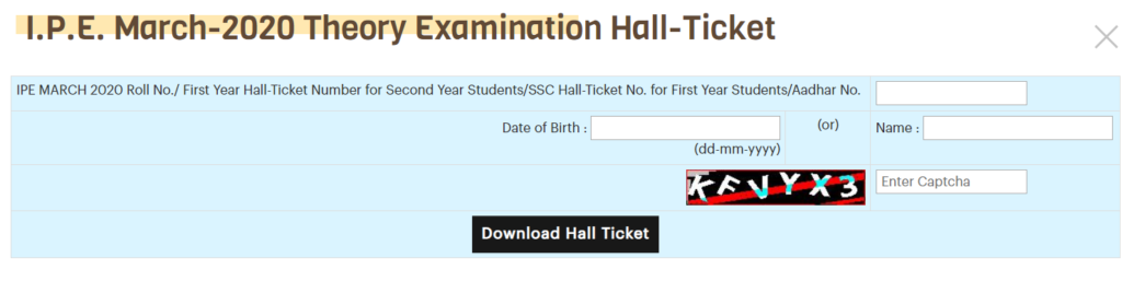 ssc hall ticket