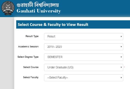 Gauhati University Results 2019-20