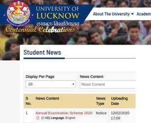 LU Exam Scheme 2020