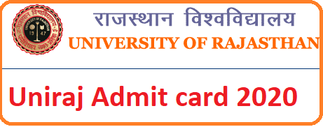 Uniraj Admit Card 2020 Name wise