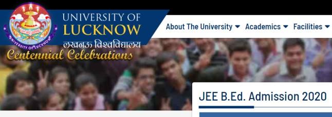 UP JEE B.Ed Admission 2020