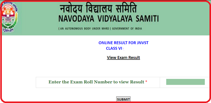 JNVST Result 2020 Class 6to