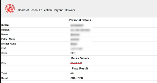 HBSE 10th Result 2020 Name Wise Check Online - Perfect Naukri