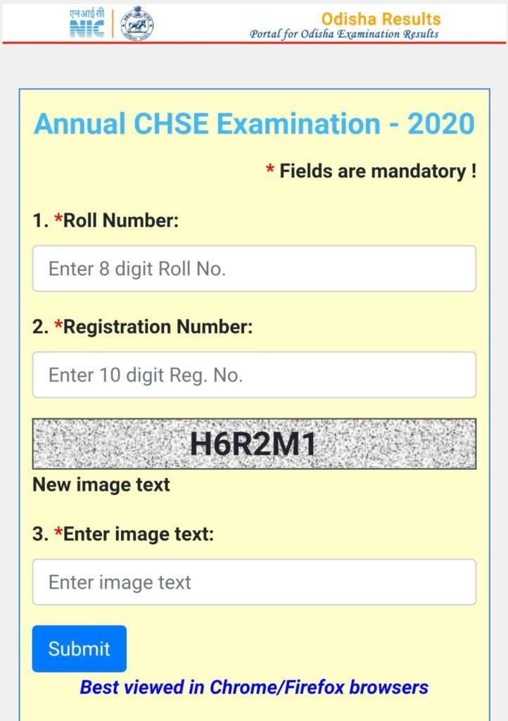 CHSE Odisha +2 12th Result 2020