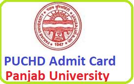 PUCHD Admit Card 2021 Download Now | UG PG Admit Card @ ugexam.puchd.ac.in